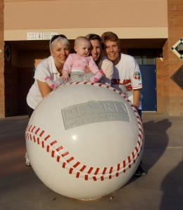 Jolanda, Kate, Floor and Aunt Cora at Peoria Stadium