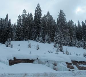An icy waterfall