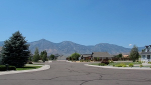 Western view of the Sierra Mountains