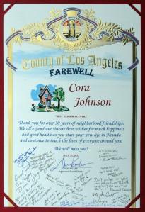 Farewell to Cora