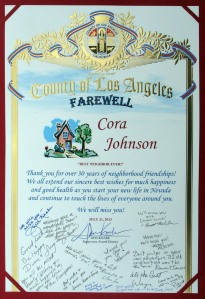Farewell to Cora