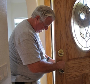 Allan and the door lock.  What a pain!