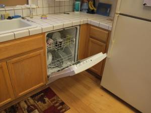 Check out the dishwasher door