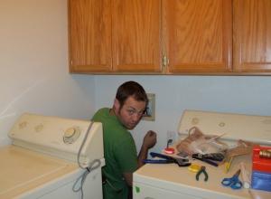 Jason and the laundry room