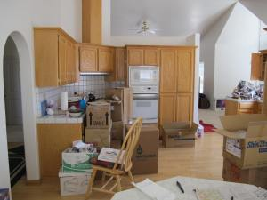 This shot shows only about half of the kitchen.  There is more to the right.