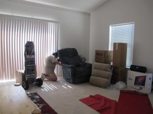 Putting the recliner together