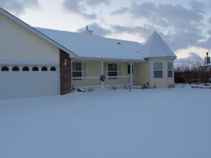 A snowy abode