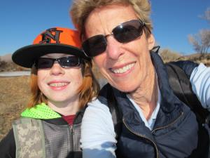 Dalan and I on a sandbar in the Carson River