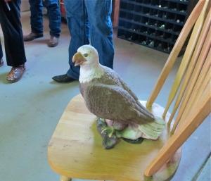 The restored eagle statue