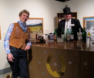 Black Barbara & Harry Highstakes, owner of the Deadwood Saloon