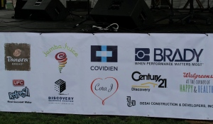 Some of the contributing sponsors, of which i was one