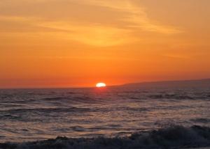Sunset behind Santa Cruz