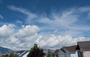 Wispy clouds on a pretty day