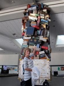 Jerri's hairdo luggage