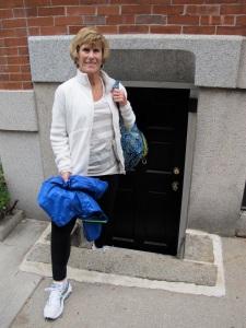 A Hobbit door.  Jerri was not invited in.