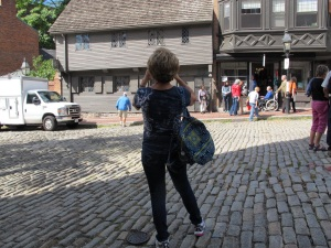 Paul's house is the gray one.  You can see the cobblestones still on this street.