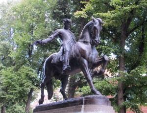 Paul Revere's statue