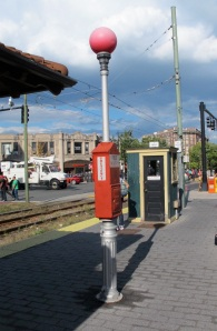 A fire alarm in Brookline