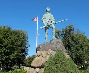 Minute Man statue on the Lexington Green