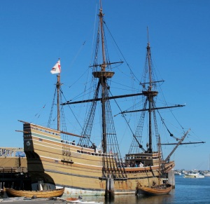 Mayflower II at the dock in Plymouth