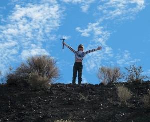 Dalan with his rock hammer