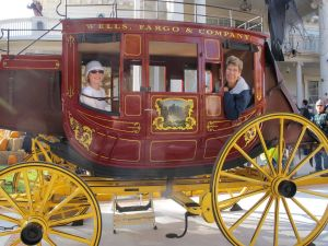 Dalan and I took advantage of the Wells Fargo stagecoach.  The photographer liked my camera.  Me, too!