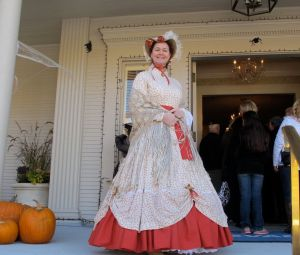 Tina helped usher in the guests of the day.  She also made several of the dresses worn by the other ladies.