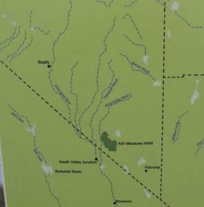 The map shows where some of the watershed is as well as little towns I will speak of.