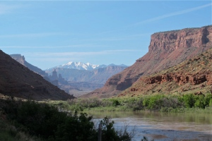 shot of the Colorado River It was a gorgeous day looking toward the La Sal Mountains.