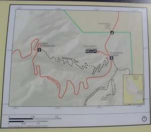 Check out the black line and you'll see why it's named Serpents Trail.