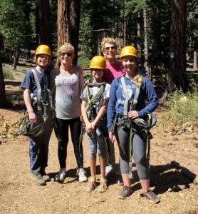 The Crew: Dalan, Jerri, Megan, me, Sierra