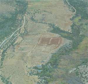 The ancient pueblo outline