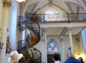 """My favorite church is the Loretto Chapel, home of the """"Miraculous Staircase."""""""