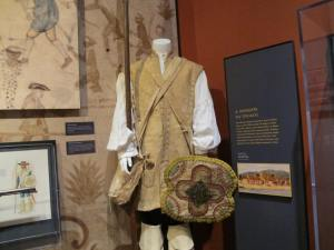 The soldier's uniform of the late 1700's was a bit more practical.
