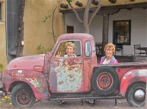 We joked that if our rental car broke down, we'd come back and get this old pickup.