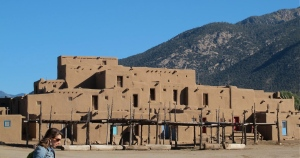 The large Taos Pueblo