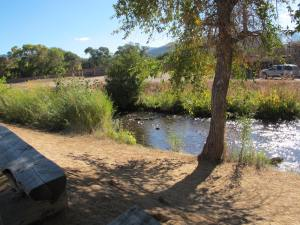 This creek is where the Taos pueblo people get their drinking water. Apparently, they don't get sick because they have a built in immunity to the cooties in the water.