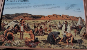 You can see how the pueblo would have looked about 1625.