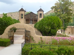 One of our stops after Santa Fe was El Santuario de Chimayo in the tiny town of the same name.