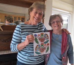 Lynda's coloring project was exemplary!