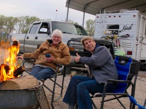 This is my favorite photo of the two of us and was taken at Pahranagat last March. Gale always loved a campfire and always built a good one.