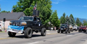 The Sierra Stompers are always a hit in the Carson Valley Days Parade. They bring their big tired ATVs (or whatever the proper term is for them) and perform some great simulations of going all over difficult terrain.