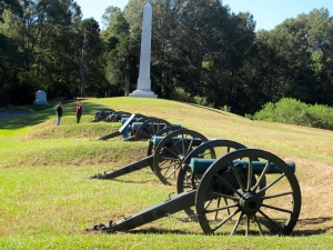 This is the Union Battery de Golyer that hammered the Confederate Great Redoubt across a ravine. (FYI-A Redoubt is a fort and in this case, a massive earthwork)