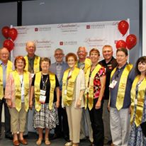 The Class of '66 joining the 50 Year Club. Sadly, not many attended.