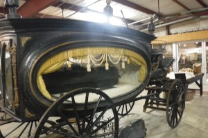 A funeral carriage