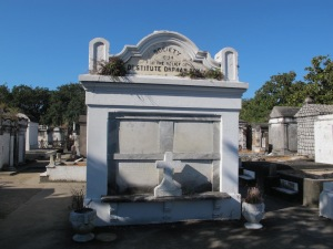 Right next to the Garden District is the Lafayette Cemetery #1 founded in 1833. Again, the crypts are above ground. Some appear to be well kept and others look to be in terrible shape.