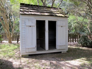 Men's and women's deluxe outhouse