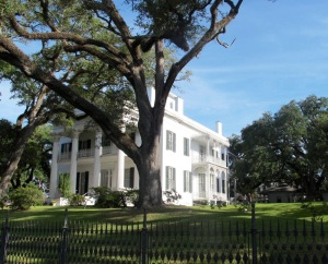 Stanton Hall is one of America's largest antebellum mansions. It was built in 1857 and takes up an entire city block