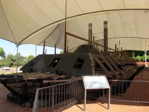 The USS Cairo (pronounced Kay-ro) was sunk in the River and salvaged in the 1960s. The boat's remains are partially reconstructed and many recovered artifacts are displayed in the nearby museum. You can get a feel of a sailor's life when you see those artifacts. It certainly wasn't an easy life for them aboard the Cairo.