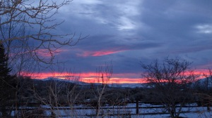 Sunrise on January 27 with snow still on the ground.